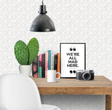 We're All Mad Here Alice in Wonderland Art Printable - Little Gold Pixel