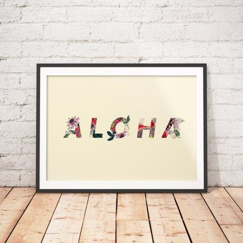Aloha Hawaii Floral Art Printable