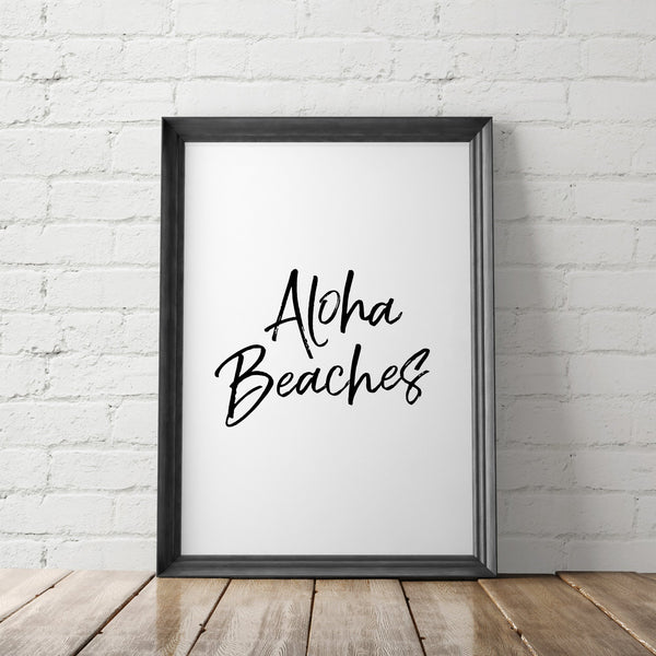 Aloha Beaches Art Printable - Little Gold Pixel