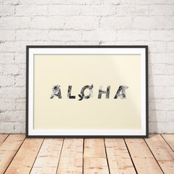 ALOHA art printable - Little Gold Pixel