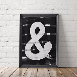 Ampersand Typography Art Printable - Little Gold Pixel