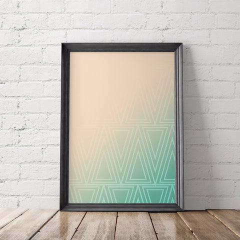 Art Deco Triangles Art Printable
