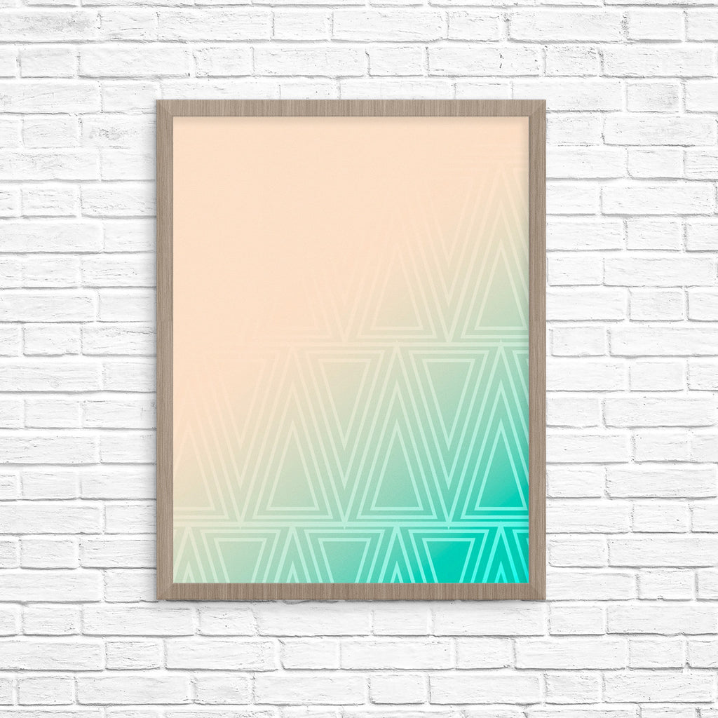 Art Deco Triangles Art Printable - Little Gold Pixel - 1