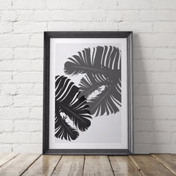 Tropical Palm Leaf Art Printable