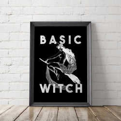 Basic Witch Art Printable - Little Gold Pixel