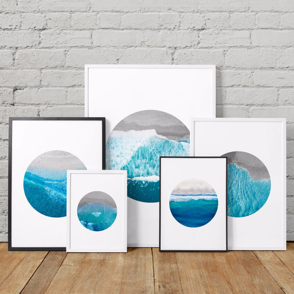 Aerial Ocean Photography Art Printables