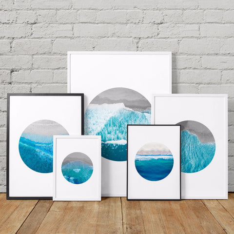 ASHORE ocean art printables - Little Gold Pixel