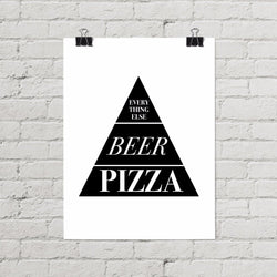 Pizza Poster - Little Gold Pixel