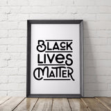 BLACK LIVES MATTER art printable - Little Gold Pixel