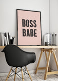 BOSS BABE art printable - Little Gold Pixel