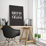 Coffee Before Talkie Kitchen Art Printable - Little Gold Pixel