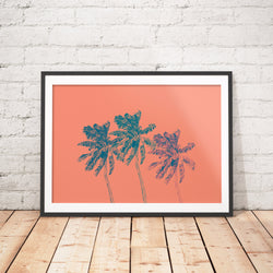 Palm Trees Art Printable - Little Gold Pixel