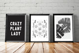 CRAZY PLANT LADY boho gallery wall starter pack - Little Gold Pixel