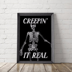 Creepin' It Real Halloween Art Printable