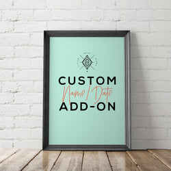 Custom Name/Date Printable Add-On - Little Gold Pixel