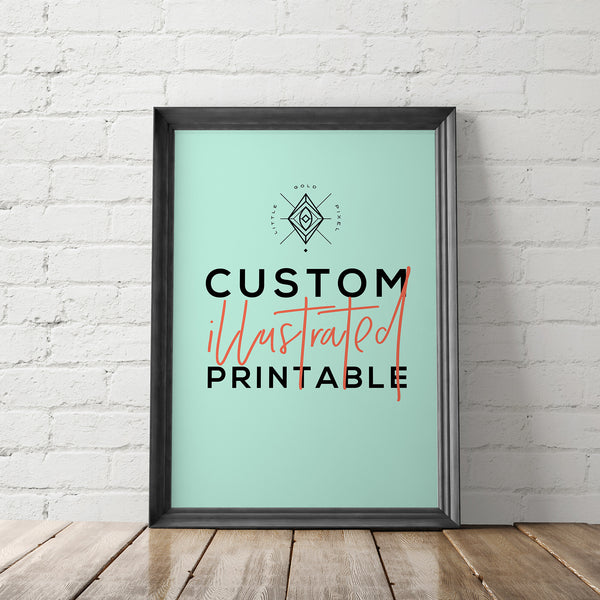 Custom Illustration Printable - Little Gold Pixel