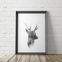 Deer Farmhouse Art Printable - Little Gold Pixel