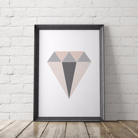 Geometric Diamond Art Printable - Little Gold Pixel