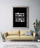 Abstract Dots Art Printable - Little Gold Pixel