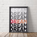 Dream No. 6 Watercolor Art Printable - Little Gold Pixel