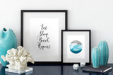 Eat Sleep Beach Repeat Art Printable - Little Gold Pixel