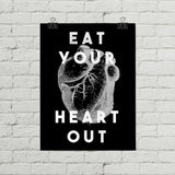 Eat Your Heart Out Vintage Anatomy Poster - Little Gold Pixel