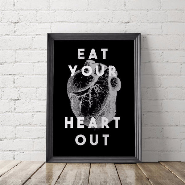 Eat Your Heart Out Art Printable - Little Gold Pixel