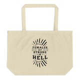 FEMALES ARE STRONG tote bag - Little Gold Pixel