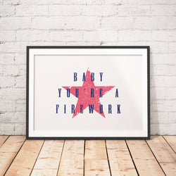 You're A Firework Art Printable - Little Gold Pixel