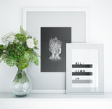 Botanical Portrait Art Printable - Little Gold Pixel