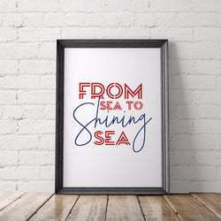 From Sea to Shining Sea Art Printable - Little Gold Pixel