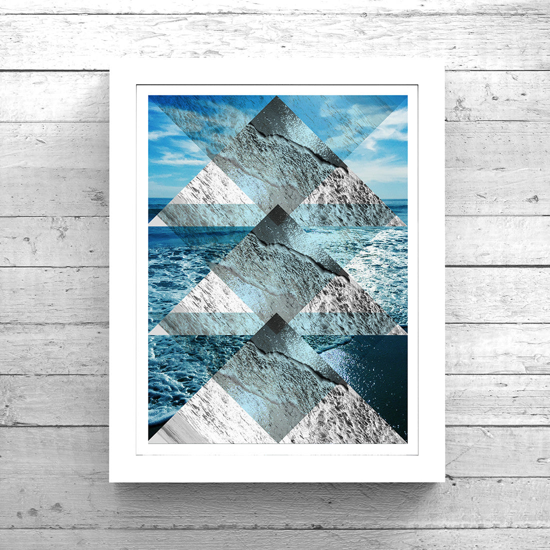 Geometric Sea Collage No. 1 Art Printable - Little Gold Pixel - 2
