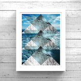 Geometric Sea Collage No. 1 Art Printable - Little Gold Pixel