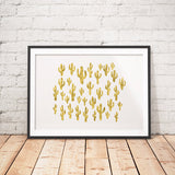 Cactus Faux Gold Foil Art Printable - Little Gold Pixel