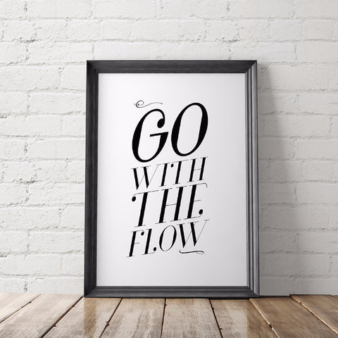 Go With the Flow Art Printable - Little Gold Pixel