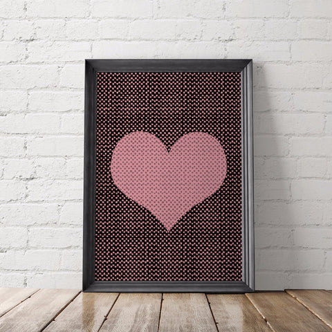 Heart Art Printable - Little Gold Pixel