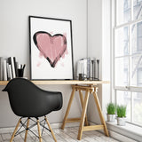 Heart Sketch Art Printable - Little Gold Pixel