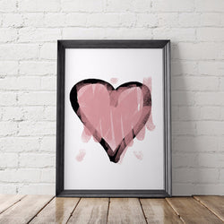 Heart Sketch Art Printable