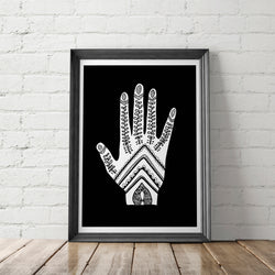 Henna Hand Art Printable - Little Gold Pixel