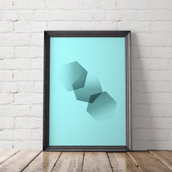 Hexagon Art Printable - Little Gold Pixel