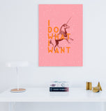 I Do What I Want Unicorn Art Printable - Little Gold Pixel