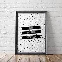 Joy to the World Printable Art - Little Gold Pixel