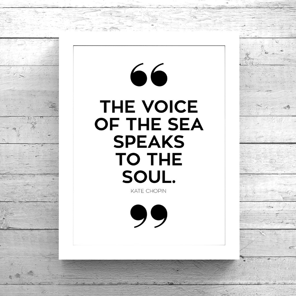 Voice of the Sea Quote Art Printable - Little Gold Pixel - 1
