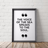 Voice of the Sea Quote Art Printable - Little Gold Pixel