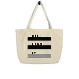KILLING IT tote bag - Little Gold Pixel