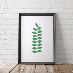Botanical Leaf Art Printable - Little Gold Pixel