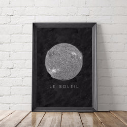 Le Soleil Sun Art Printable - Little Gold Pixel