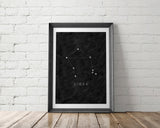 Zodiac Constellation Art Printable - Little Gold Pixel