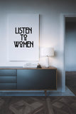 Listen to Women Time's Up Art Printable - Little Gold Pixel