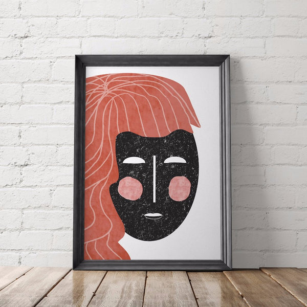 Modern Abstract Face Art Printable - Hannah